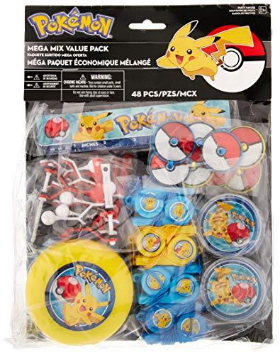 Pokemon Birthday Party Favors (amscan Pokemon Mega Mix Value Pack, Party)