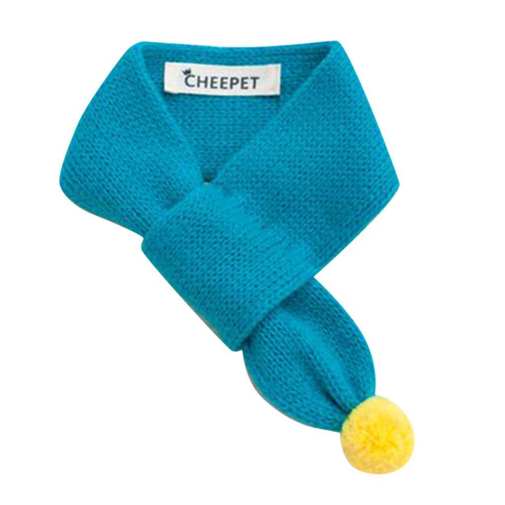 AKwell Knitted Dog Scarf Collar Neckerchief Pet Puppy Cat Winter Neck Warmer Gift New Pet Accessories