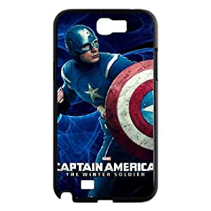 WJHSSB Diy Phone Case Captain America Pattern Hard Case For Samsung Galaxy Note 2 N7100