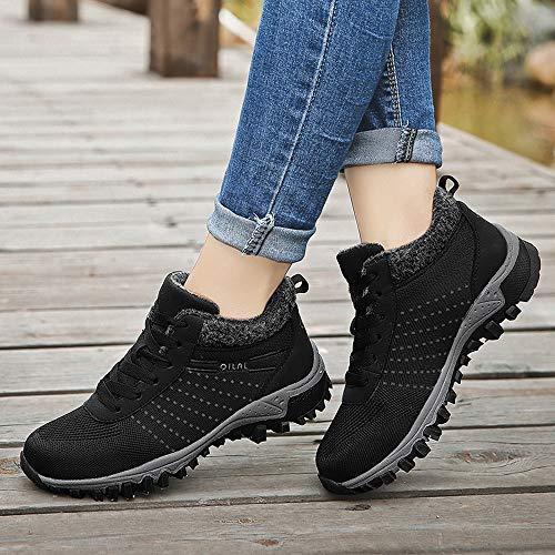 Caliente De Antideslizante Deportivo Ligeras Culater Negro Mantener Calzado Malla Transpirable Las Plana Ocio Zapatillas Mujer IH7H0z