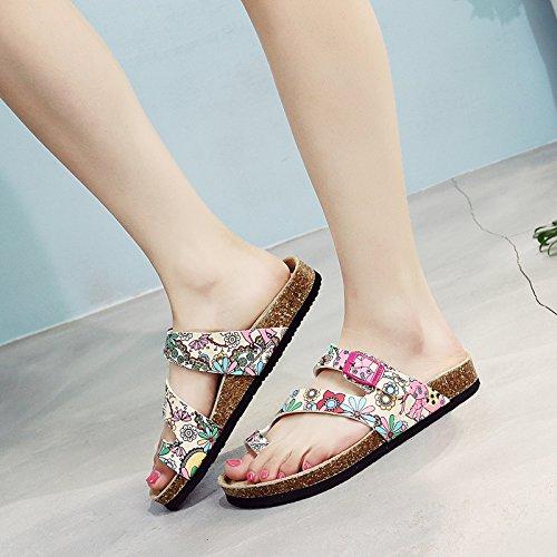 nero Piatto Estate Spiaggia Fondo Angolo Fiore Qingchunhuangtang Pantofole colore Pantofole Scarpe Pantofole di Da wZI1xaq