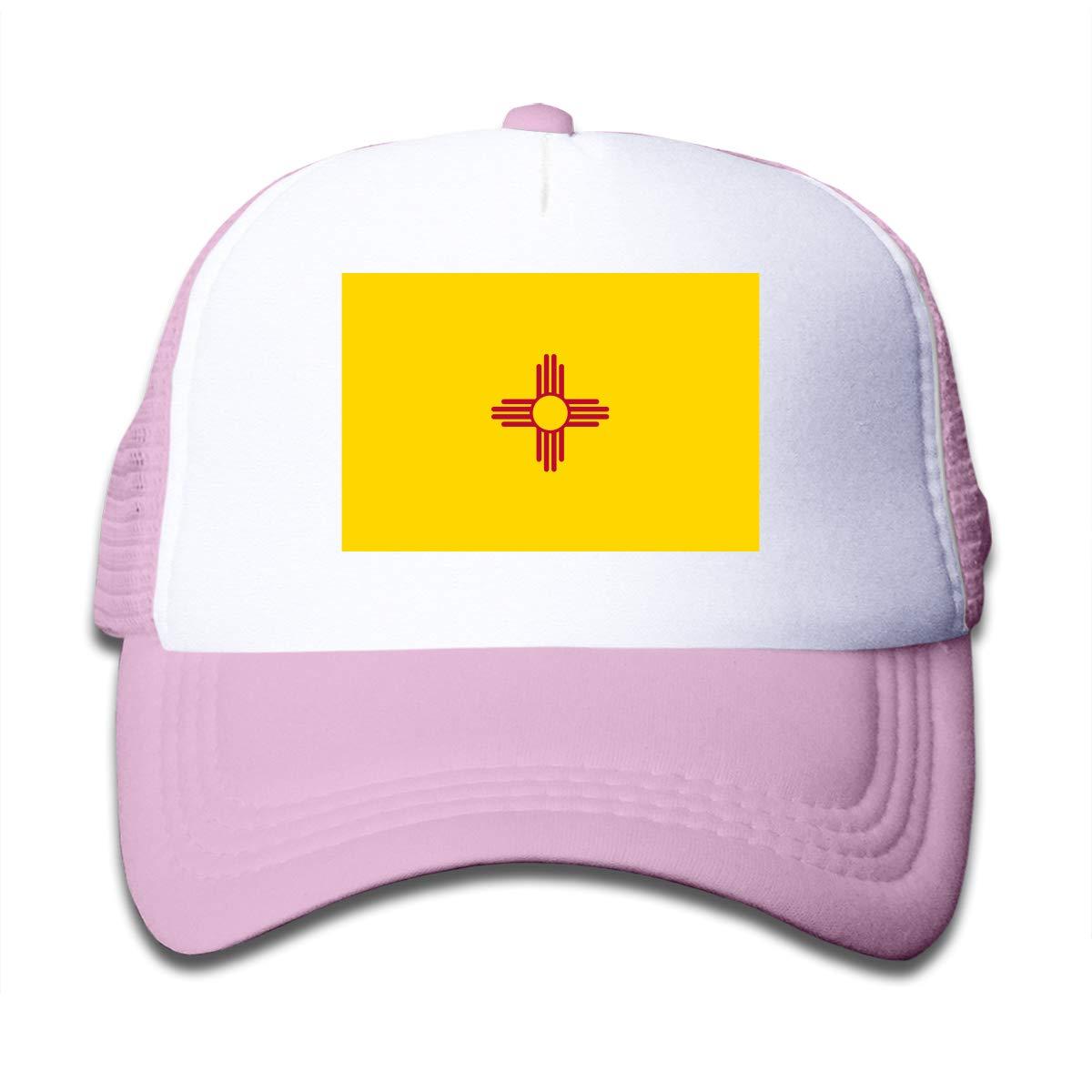 Xinjinhon State of New Mexico Kids Girls Mesh Trucker Hats Adjustable Baseball Caps
