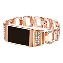 for Fitbit Charge 2 Bands,Premium Crystals Metal Frame Wristband Accessory Band for Fitbit Charge 2 /Fitbit Charge 2 Band (No Tracker)