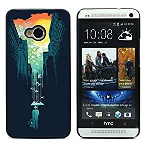 Graphic4You Propped Days Design Hard Case Cover for HTC One (M7) wangjiang maoyi