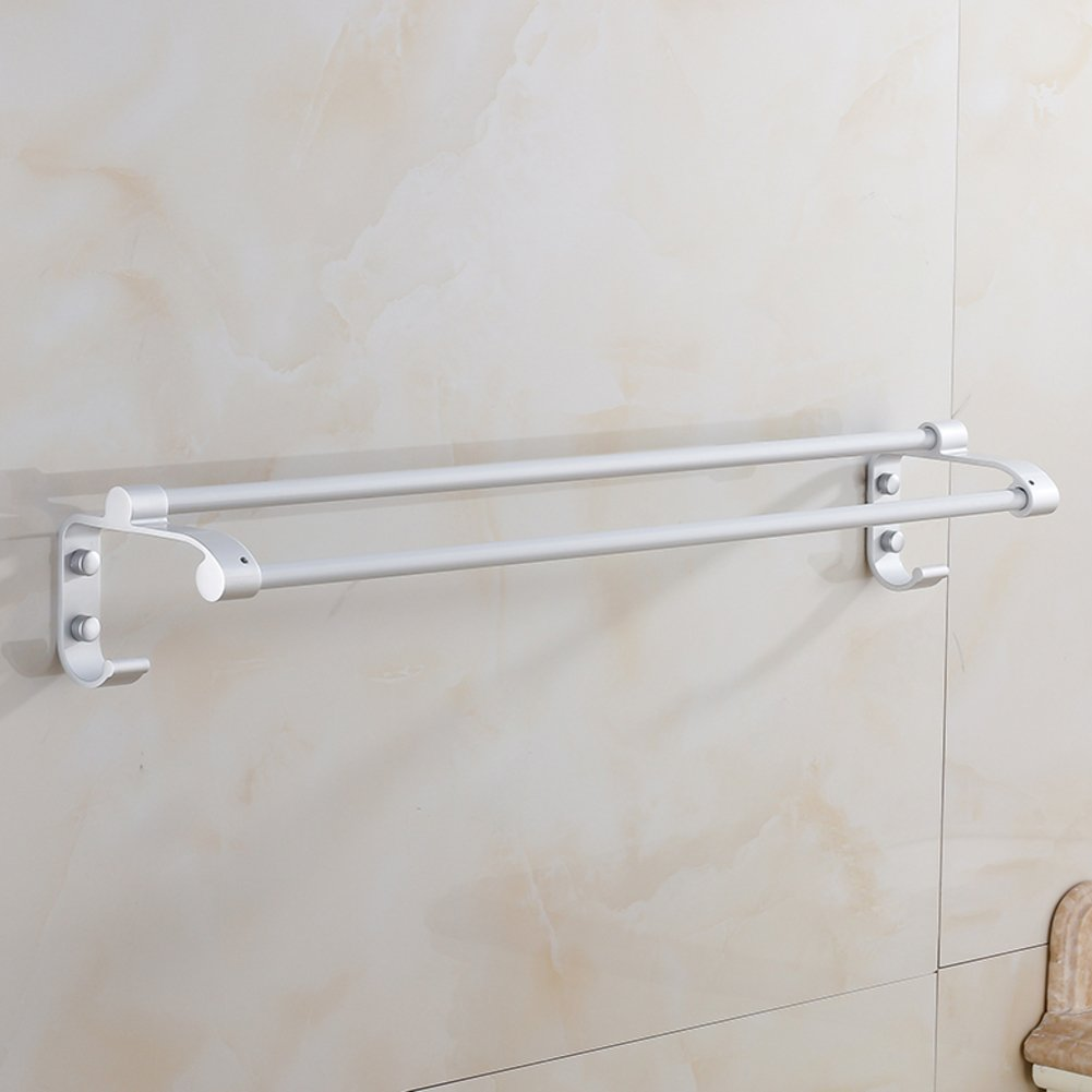 free shipping Space aluminum double Towel Bar/Bathroom Accessories/ bold bathroom accessories thickening