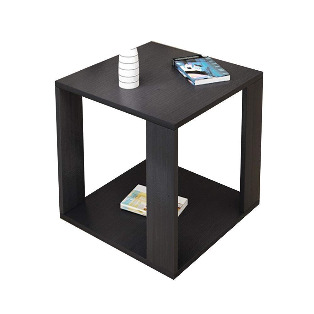 テーブル サイドテーブル、携帯小さなコーヒーテーブル二重層オープン収納多機能スナックテーブル小さなアパート純木コーナーテーブル寝室用リビングルーム (色 : A, サイズ さいず : 60*60*50cm) 60*60*50cm A B07S7781SF