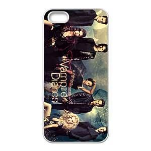 The Vampire Diaries 019 funda iPhone 4 4S caja funda del teléfono celular del teléfono celular blanco cubierta de la caja funda EOKXLLNCD20297