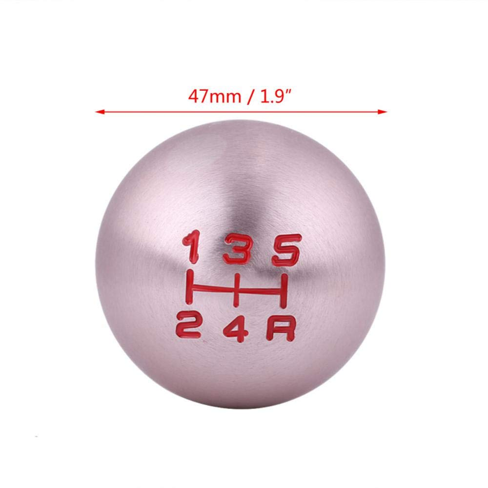 Acouto Round Ball Car Gear Shift Knob Shifter LeverFor JDM Honda Civic FD2 Type-R 5 Speed