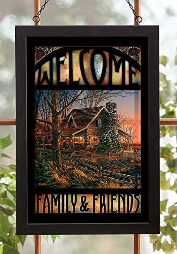 Wild Wings Comforts of Home Stained Glass Art by Terry -