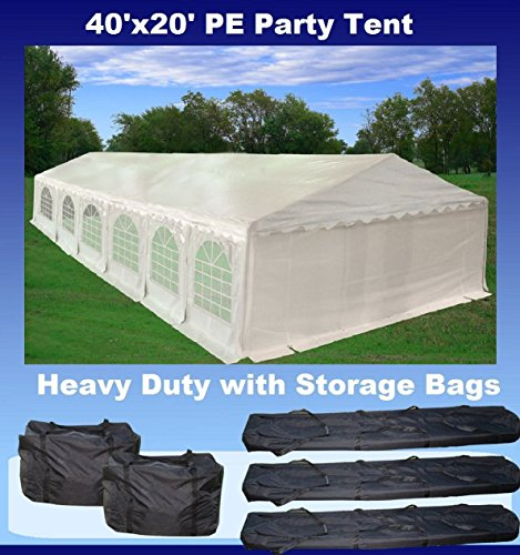 PE Party Tent Canopy with Storage Bags - X20 Series (40'X20') - 40' Series