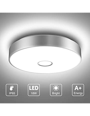 Jake Decorative Chrome Flush Bathroom G9 LED Compatible Ceiling Light with Clear Crystal Glass Bead Detail IP44 Rated
