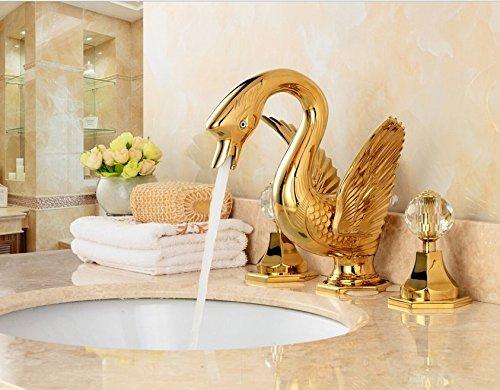 ZHFC-rose goldenen schwan modellierung der antike gold wasserhahn