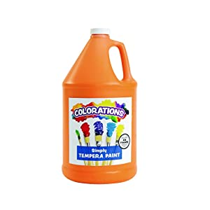 Colorations Tempera Paint, Gallon Size, Orange, Non Toxic, Vibrant, Bold, Kids Paint, Craft, Hobby, Fun, Art Supplies (Item # GSTOR), 1 Gallon