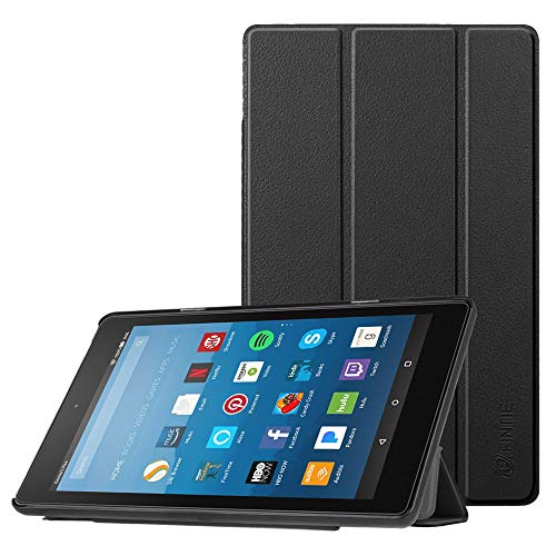 : Fintie Slim Case for All-New Amazon Fire HD 8 Tablet (7th and 8th Generation Tablets, 2017 and 2018 Releases), Ultra Lightweight Slim Shell Standing Cover with Auto Wake/Sleep, Black