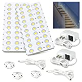Mopao Motion Sensor Light, 36.7ft LED Module Night Light,12V 60 LEDs Interior Safe Lights Kit for Stair,Hallway, Bedroom, Kitchen, Home Decor(Warm White,3000K)