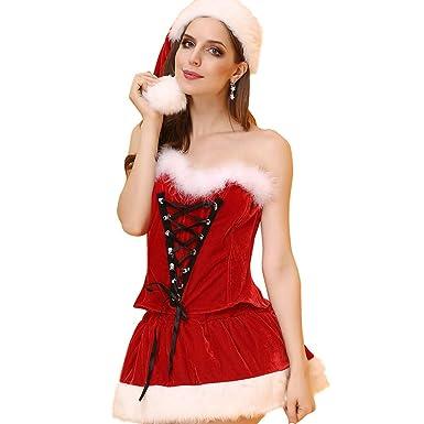 XL- Traje de Cosplay para Mujer, Traje de Navidad, Papá Noel ...