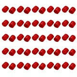 uxcell 50pcs 22mm Dia Red Rubber Thread Round Cabinet Chair Leg Insert Cover Protector
