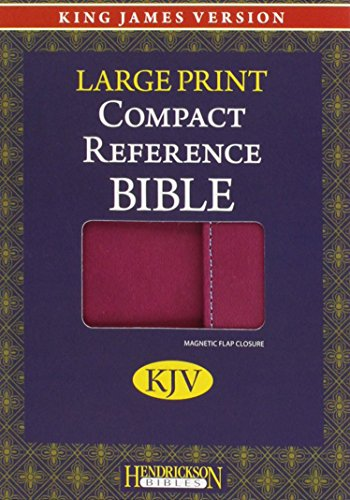 Holy Bible: King James Version, Berry, Imitation Leather, Large Print Compact Reference Bible W/Magnetic Flap James Berry