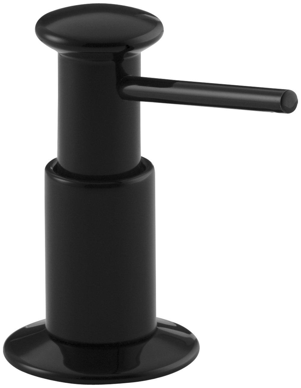 KOHLER K-9619-7 Soap or Lotion Dispenser, Black Black