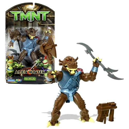 Playmates Year 2007 Teenage Mutant Ninja Turtles TMNT Alien Hunter Series 7 Inch Tall Action Figure - THRASHMOR with Battle Axe, Big Blaster and Double Blade Halberd Alien Battle Axe