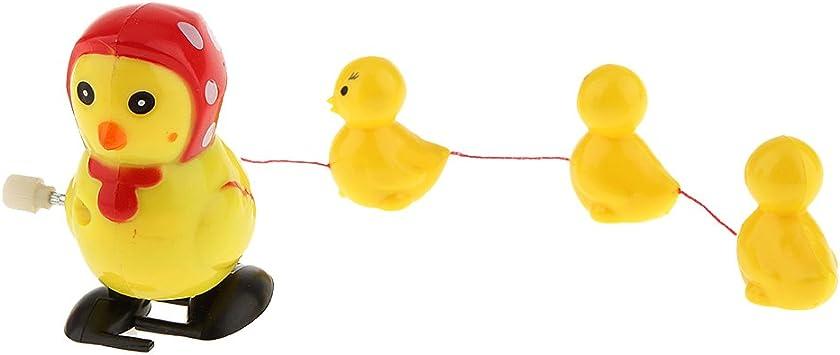 Juegos de Aprendizaje 1 Gallina con 3 Pollitos de Cuerda los Bebés Siguen a la Gallina: Amazon.es: Juguetes y juegos