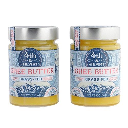 4th & Heart Himalayan Pink Salt Grass-Fed Ghee Butter, 9 Ounce Bundle (2 pack) by 4th & Heart