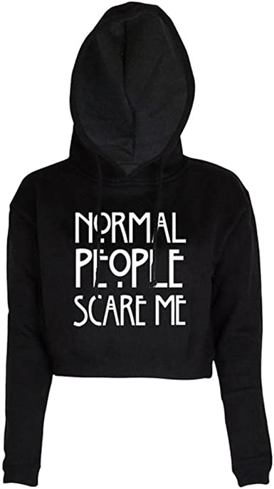 Funny American Inspired Fashion Hoody Gift Top Normal People Scare Me Hoodie