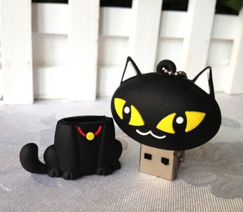 Cute Black Cat Model Storage 8GB USB 2.0 Flash Drive Memory Stick Thumb Pen Drive