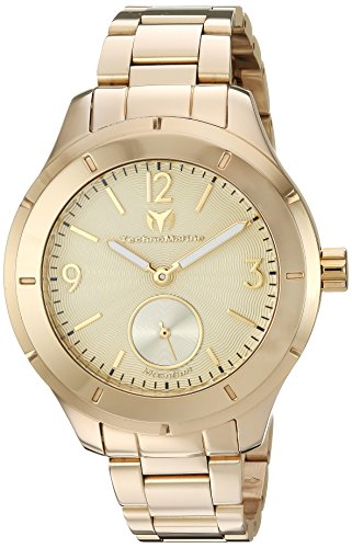 Technomarine Men's 'MoonSun' Quartz and Stainless-Steel Casual Watch, Color:Gold-Toned (Model: TM-117030)