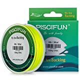 Piscifun Braided Fly Line Backing With Orange White Fluorescent Yellow Color 20lb 30lb 100yd 300yd from Piscifun