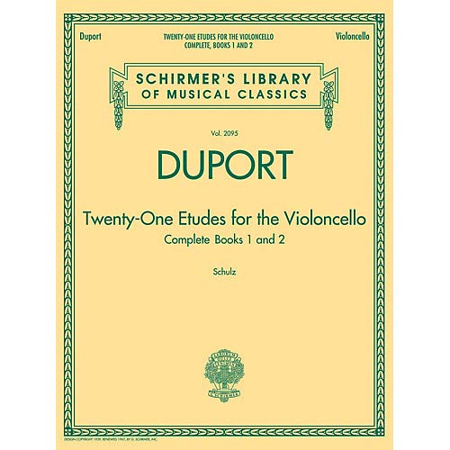 Duport - 21 Etudes for the Violoncello, Complete Books 1 2 String Method Series Softcover Pack of - Softcover Method