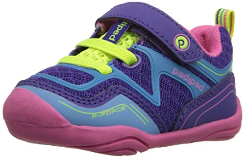 pediped Grip Force Athletic Shoe (Toddler), Purple Azure, 19 EU(4-4.5 E US Toddler)