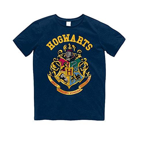 Crest Youth T-shirt - HARRY POTTER Childrens/Kids Hogwarts Crest T-Shirt (Youth M) (Navy)