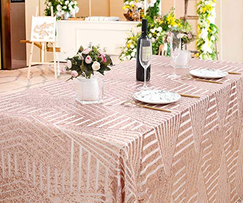(B-COOL Geometric Pattern Sequin Tablecloth 50