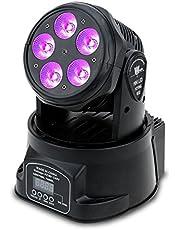 Docooler RGBW 4in1 LED Stadiums Effekt/Bewegliches Hauptlicht, Wash Beleuchtung, DMX512 9/14 Kanal für DJ Verein Disco Stadiums Partei Beleuchtung, 7 LEDs 70W
