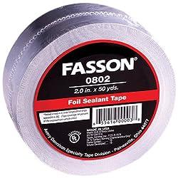 Avery Dennison Fasson 1803/0802 Aluminum Foil HVAC Duct Tape, UL 723, Silver, 150 ft