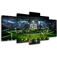 MAOYYM1 Quadri in Tela 5 Pannelli Poster Stampa Decor Juventus Poster Sport Stadio Wall Art Pittura per Camera Drop Ship Senza Cornice