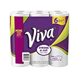 VIVA Choose-A-Sheet Paper Towels, White, Regular Roll, 6 Rolls