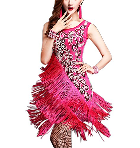 Whitewed Fringe Jazz Flapper Period Dance Costume Apparel Outfit Dress for Women