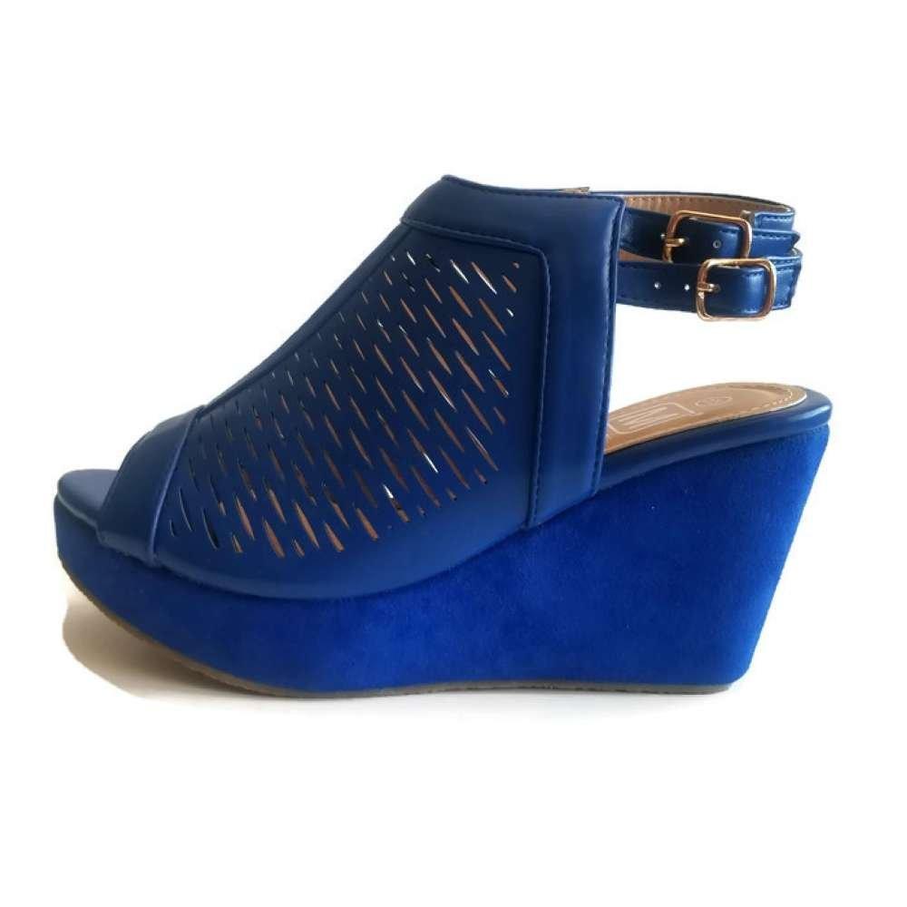 Maker's Gera 39 Women's Wedge Shoes B07CVQMNCB 5.5 M US|Blue