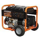 Generac 5978 GP7500E 7500 Running Watts/9375 Starting Watts Electric Start Gas Powered Portable