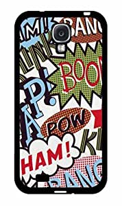 Bang Pow Boom Comic 2-Piece Dual Layer Phone Case Back Cover Samsung Galaxy S4 I9500