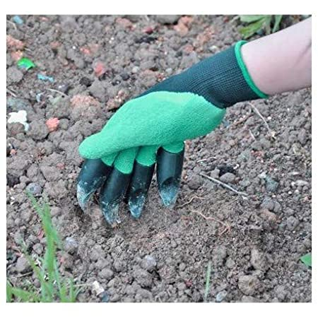 Garden Gloves 1 Pair Garden Digging Gloves With 4 Right Hand Fingertips Sharp+fork Claws Making Things Convenient For The People Protective Gears
