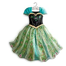 Daily Proposal FAC1 Anna Coronation Dress Disney Frozen Inspired Girl Costume Kids Size 2T-10 USA