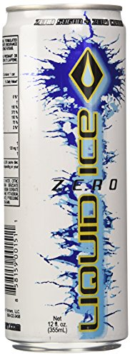 Liquid Ice Zero Energy Drink, 12 Ounce, 24 Count