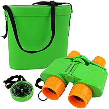 Click N' Play Nature and Wildlife Exploration Binocular Set with Case and Compass.