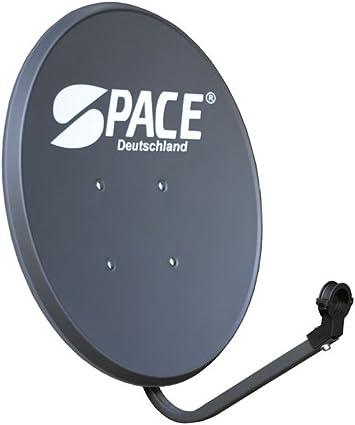Space 60 cm Sat antena parabólica (FullHD 4 K digital Gris ...