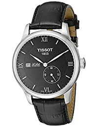 Tissot Men's T0064281605800 Le Locle Analog Swiss Automatic Black Alligator Leather Watch