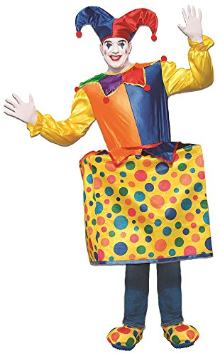Man In A Box Costume - Forum Men's Jack in the Box Deluxe Costume, As Shown, STD