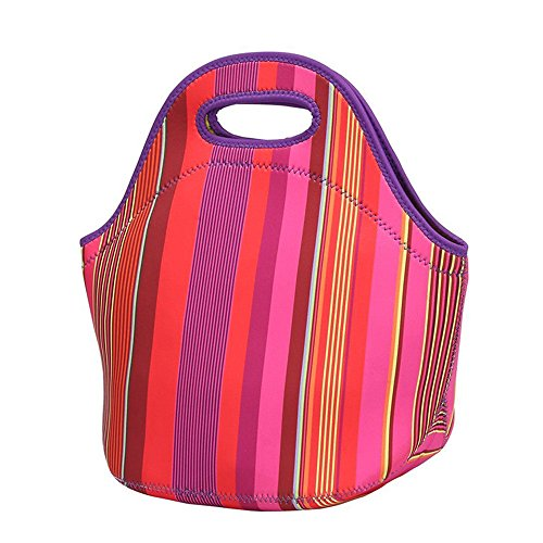 Nstcher Haute qualité !! Neoprene Lunch Tote Bag Insulated Waterproof Lunch Box for Women Adults Kids B